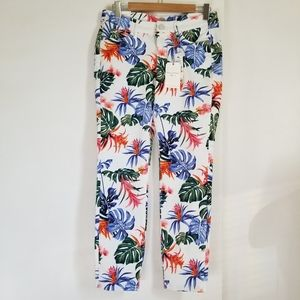 New Tommy Bahama Bogart Blooms Skinny Ankle Jean